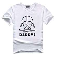 Buy Movie Shirt Crew Neck Men Graphic Short Sleeve Star Wars Daddy T-Shirt Round Neck Short Sleeve Tee T Shirts for $14.88 in AliExpress store