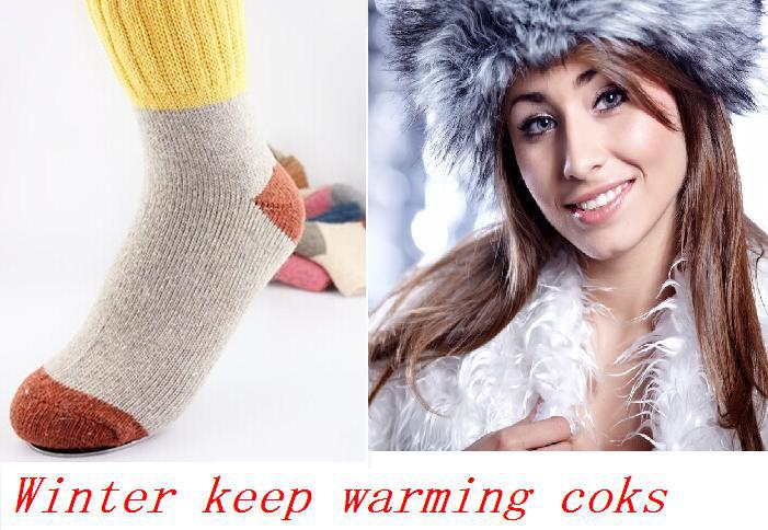 wool keep warm socks for winter anti cold feet 2014 new for man and women shoes hot sell warming sock free shipping foot care(China (Mainland))
