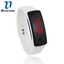Blueness Sport Silicone Digital Wrist Watch For Women LED Reloj Mujer Men Hombre Children Watches Relogios Masculinos Montre 130