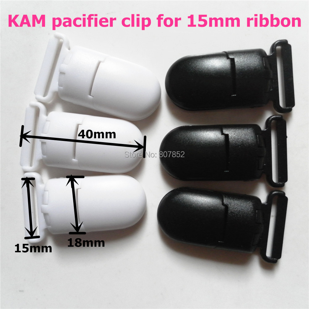 2 color 50Pcs Plastic Clips For Pacifier Soother/ Dummy / Nuk / MAM/ Bib / Toy Holder /Suspender Tape width: 15mm(China (Mainland))