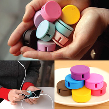 New Arrival Candy Colored Headphone Winder Phone Screen Wipe Practical Tools 6 Colors Drop Shipping PA-0029(China (Mainland))
