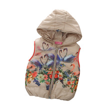 2016 New Fashion Baby Kid Girls Vests Children's Winter Waistcoat Hooded Jackets Outerwea Thick Coat Jacket For Girl Vest 19