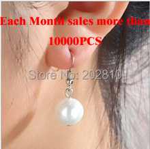{Hot Fashion trendy simple concise pearl earrings  & pendant  silver plated  good quality lowest price jewelry Factory wholesale(China (Mainland))