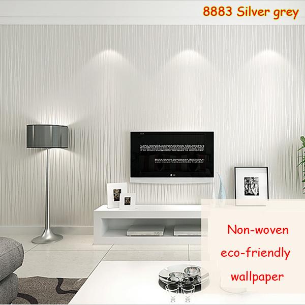 1 roll 5 color non woven fabrics 3d striped wallpaper for for Striped wallpaper living room