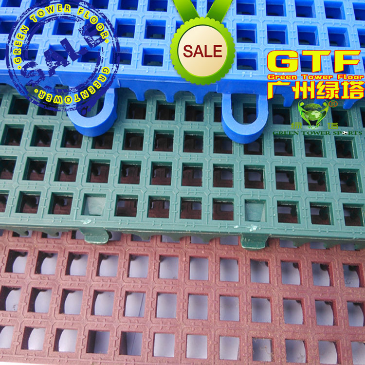 Suspension assembly slip floor nursery outdoor basketball courts, badminton table tennis plastic floor nursery(China (Mainland))