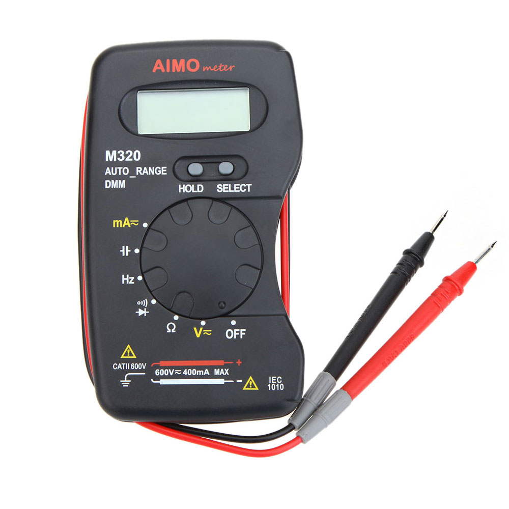 AIMO M320 LCD Digital Multimeter Pocket size DMM Frequency Capacitance current Resistance diode Measurer Data Hold Auto Range(China (Mainland))