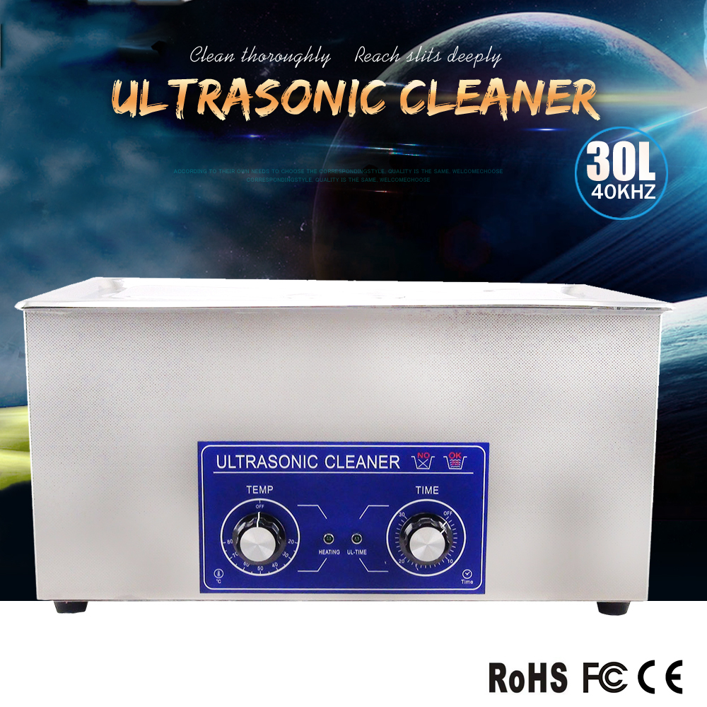 30L best value ultrasonic washing machine for parts washing like carb ,injector and cylinder diamond jewelry cleaner(China (Mainland))