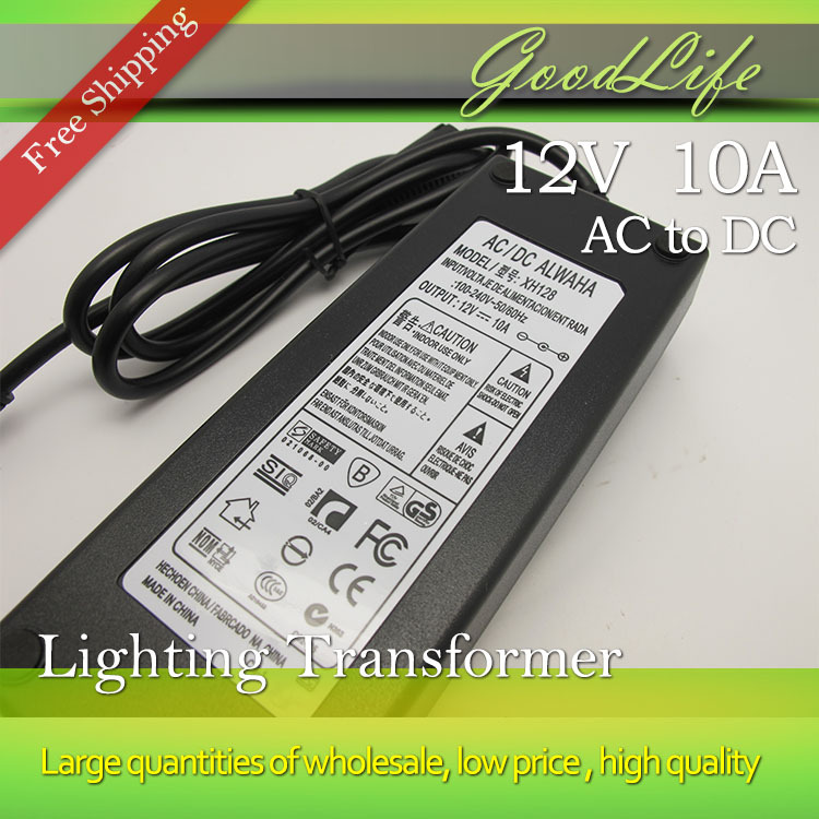 12V 10A 120W Power Adaptor,power supply DC12V,US/EU/AU/UK for choice,Free shipping(China (Mainland))