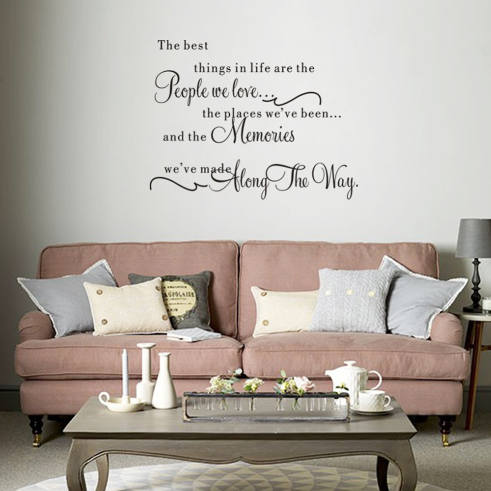 The best things in life letter pvc removable room wall sticker home decor free shipping in wall - Promo codes for home decorators design ...