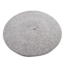 Venta caliente 2018 barato nueva moda de Mujeres de lana de Color sólido sombrero mujer sombrero gorras de invierno todos coincidentes cálido caminando sombrero tapa 16 Color(China)