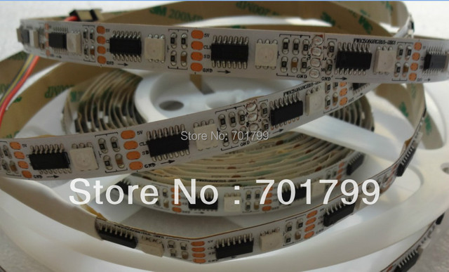 addressable WS2801 DC5V 36pixels with 36ledss/m led digital strip,non-waterproof,5m long