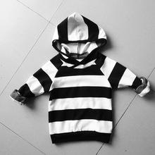 INS Baby boys striped Hoodies girls Sweatshirts Autumn Cotton Long Sleeve 18m-4y Kids Boys Clothing Children Hoodies for Girls(China (Mainland))
