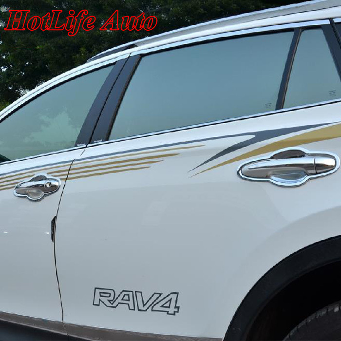 Buy For 2014 2015 Toyota Rav4 Rav 4 Abs Chrome Door Handle Cover Side Door