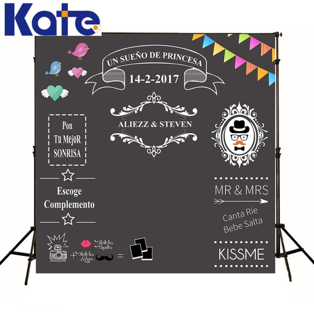 KATE Custom blackboard Wedding Background Sweet love backdrop chalkboard  DIY backdrop photocall Excluding bracket