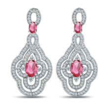 Buy Julie Store Luxury Big Dangle Earrings Women 7 colors Flower AAA Paved Cubic Zirconia Brand Brincos 2017 Pendientes Jewelry for $14.62 in AliExpress store