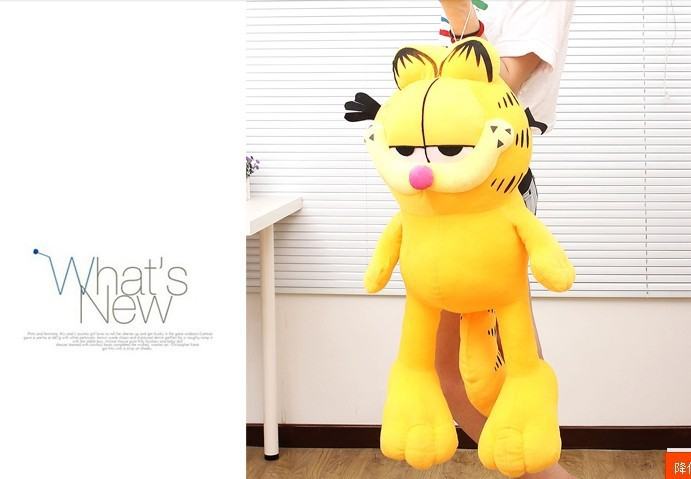 middle size new plush garfield toy lovely yellow Garfield doll soft Toy gift about 110cm(China (Mainland))