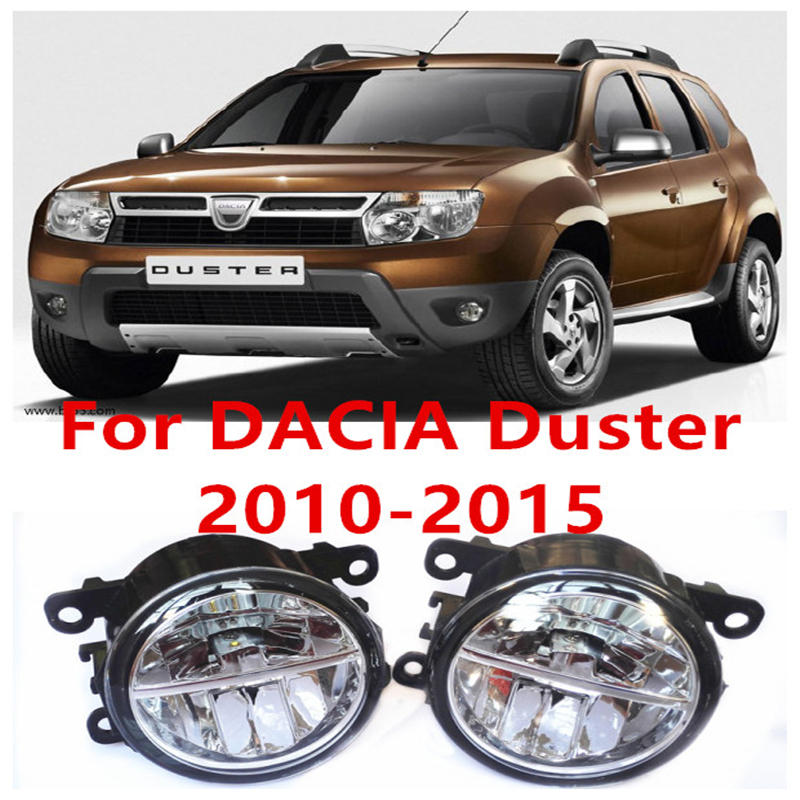 For DACIA Duster Closed Off-Road Vehicle  2010-2015 Fog Lamps LED Car Styling 10W Yellow White 2016 new<br><br>Aliexpress