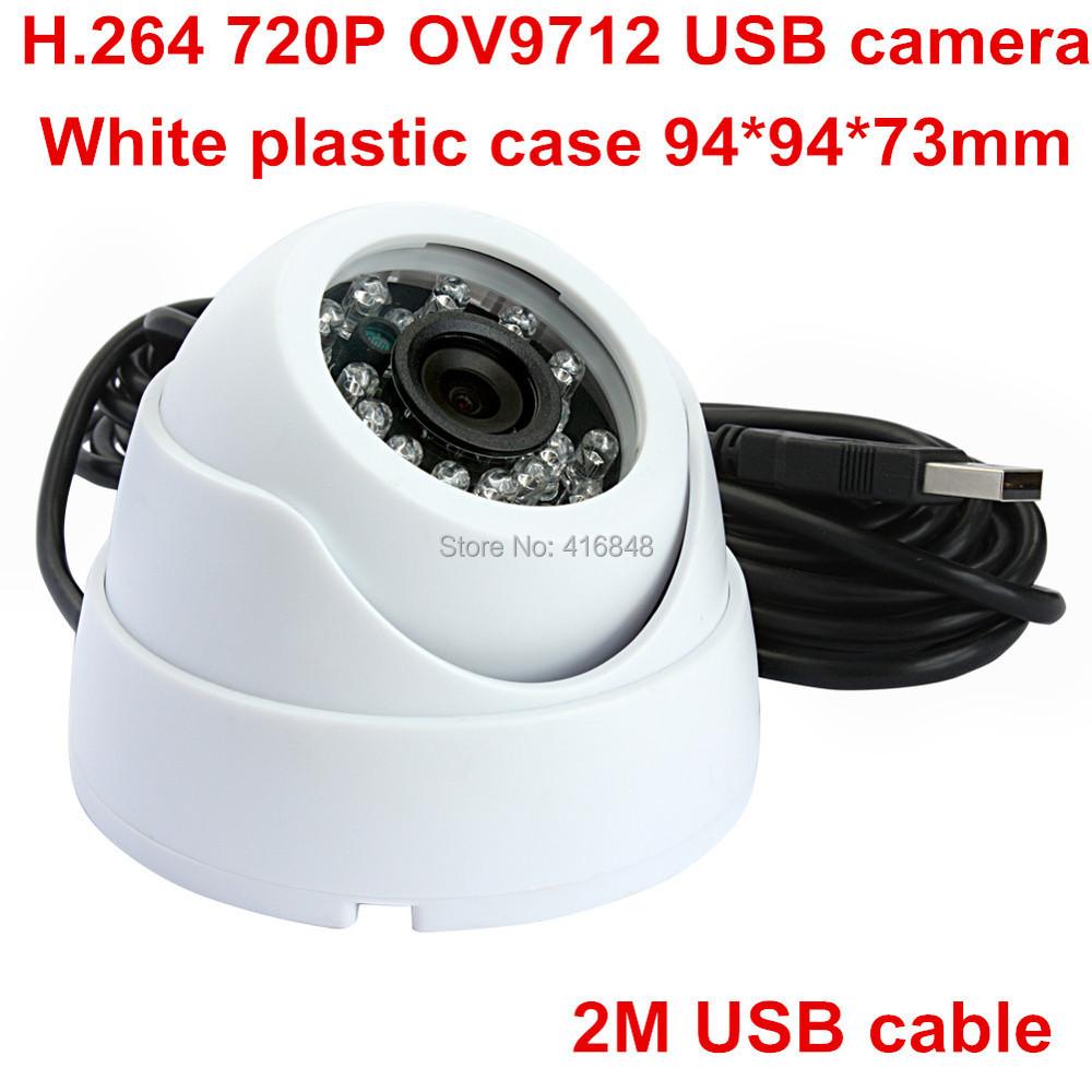 HD 1MP 720P 1/4 CMOS OV9712 H.264 driverless UVC Plug and play usb webcam camera with IR Cut and IR board(China (Mainland))