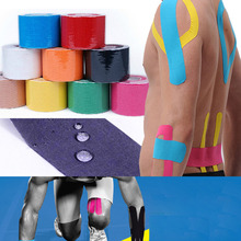 5M*5CM 1 Roll Sports Tape Kinesio Sports Physio Muscle Strain Injury Support Muscles Care Strap Sticker Colorful Freeshipping(China (Mainland))