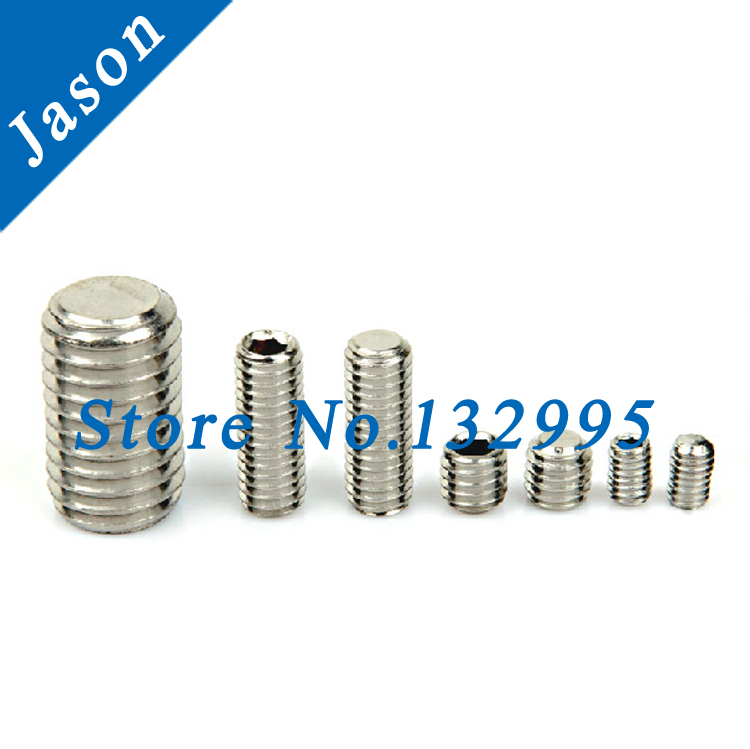 M4*20  Stainless steel A2  Hexagon socket set screws grub screw cup point  SUS 304 DIN913  M4*L<br><br>Aliexpress