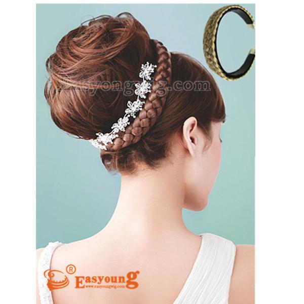 faux braids hairpieces, hair plait headband,(China (Mainland))