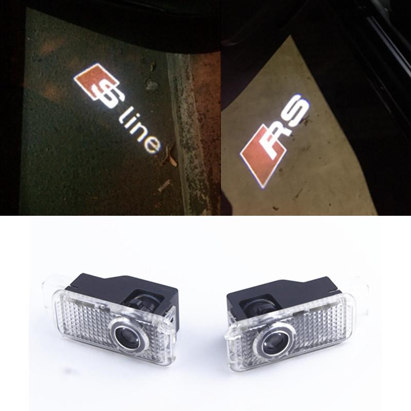 2pcs Car Door Welcome Light Laser Car Door Shadow Projector Logo light LED For AUDI A3 A4 b6 b8 A5 A6 c5 A7 A8 R8 Q5 Q7 TT Sline(China (Mainland))