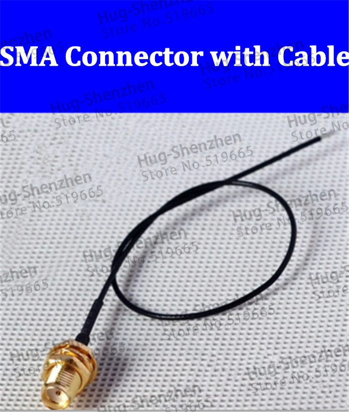 Best price 10pcs RP SMA Female connector with 20cm black color cable for WIFI wireless router(China (Mainland))