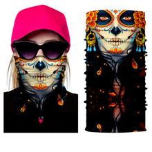 BJMOTO Дизайн человеческое лицо череп бандана высокие эластичные бесшовные шарфы для верховой езды маски велосипеда волшебный спорт оголовье...(China)