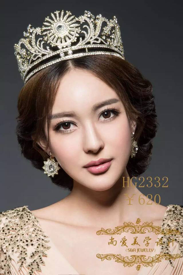 SA genuine new - drunk queen pompous aristocratic style bridal jewelry crown princess married the big European and American beau<br>