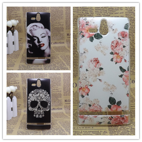 2014 Hot New Multi species Eiffiel Towel Painting Hard Plastic Phone Case Cover For Sony Xperia U st25i +Screen protector(China (Mainland))