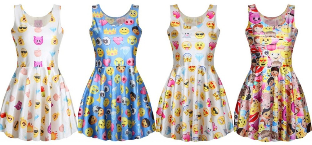 style revival dress emoji