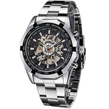 Relogio Masculino Mens Watches Mechanical Full Steel Skeleton Shock Resistant Self-winding Man Automatic Watch Sports Wristwatch(China (Mainland))