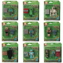 28pcs/9 set minecraft toys 3-4 inch minecraft stone bed box sword pickaxe and steve Fun Collectible action figures model toys(China (Mainland))