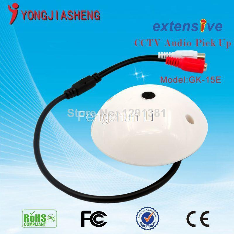 Sensitivity pickups CCTV Microphone and Camera Audio monitor Surveillance CCTV Audio Cable Audio Receiver for Security Cameras(China (Mainland))