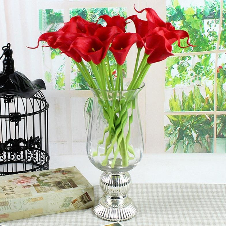 Promotion 1 Calla Lily Real Touch Home Decorative Flower Artificial PVC Wedding GI671574 - Unique Digital store
