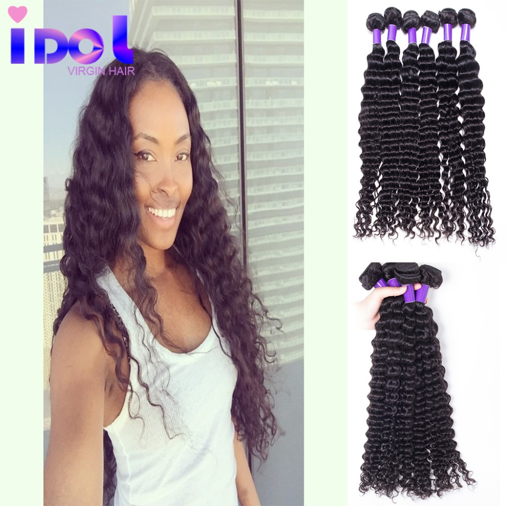 Beauty Forever Hair Brazilian Virgin Hair Deep Wave 3 Bundles 7A Mink Brazilian Hair Weave Cheap Unprocessed Brazilian Deep Wave