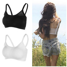 1PC Hot Sexy Backless Hollow Out Base Sport Vest Cotton Spandex Women's Bustier Bra Crop Top Tank Beach Newest(China (Mainland))