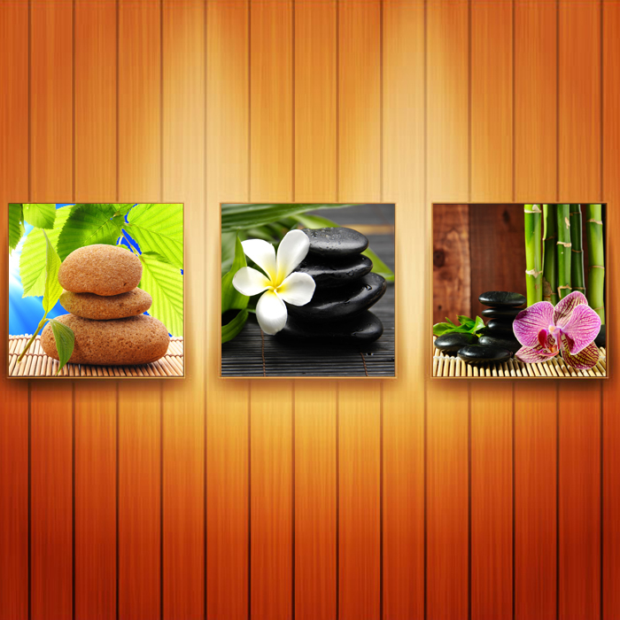 3 Panel Canvas Art Stone Flower Paintings Beautiful Still Life Oil Picture Prints For Drawing Room Bedroom Wall Decor Hot New(China (Mainland))