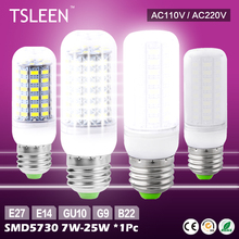 Buy TSLEEN 5730 smd led corn bulb lamp light 7w 9w 12w 15w 20w 25w warm cool white 110v 220v bright for $1.89 in AliExpress store