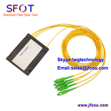 FTTH 1*4 PLC Fiber Optic Splitter, ABS Packing, SC/APC SM connector, 2.0mm cable, GPON EPON OLT - Shenzhen Technology Company Limited store