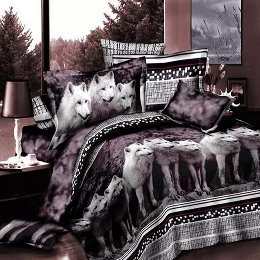 Wolf queen bed sheets koop goedkope wolf queen bed sheets loten ...