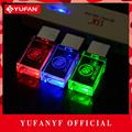 YUFANYF 2017 pendrive 3 colors Red blue green LED Buick car LOGO USB falsh drive 4GB