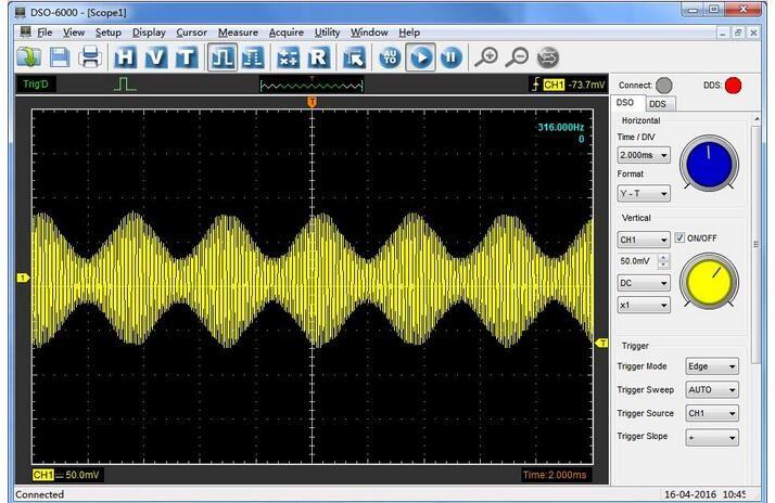 Hantek 6074 BD 4CH mobile Oscilloscopes approximate 70 MHz Oscillograph with 25 MHz Signal Generator