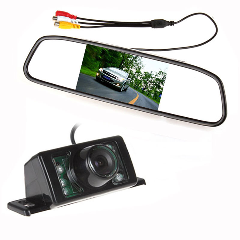 480 x 272 4.3 Inch TFT LCD Display Car Rear View Mirror Monitor + 7 IR Lights Night Vision RearView Reversing Backup Camera(China (Mainland))