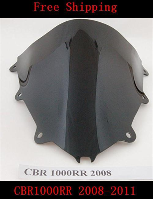 Motorbike For Honda CBR1000RR 2008 2009 2010 2011 models motorcycle Blcak windshield Windscreen MOTO Double Bubble CBR 1000 RR(China (Mainland))