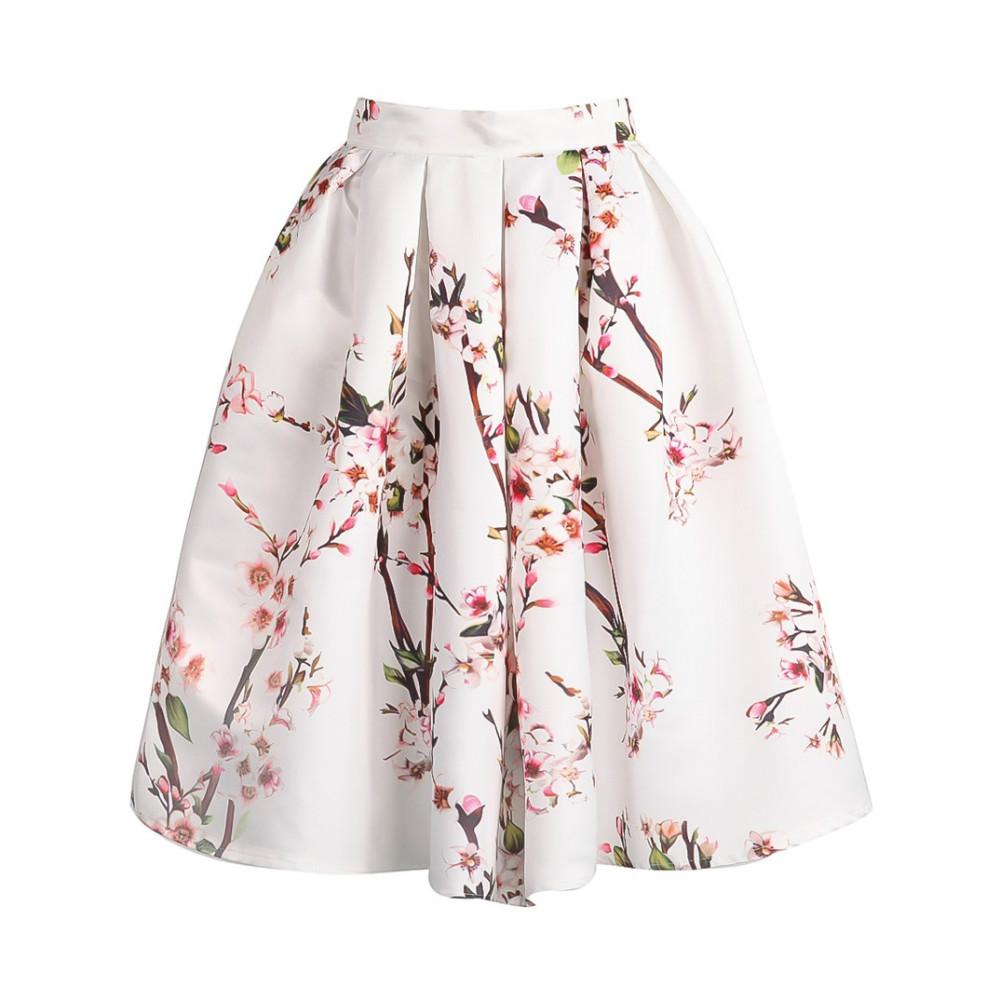 Womens Floral Skirt - Dress Ala
