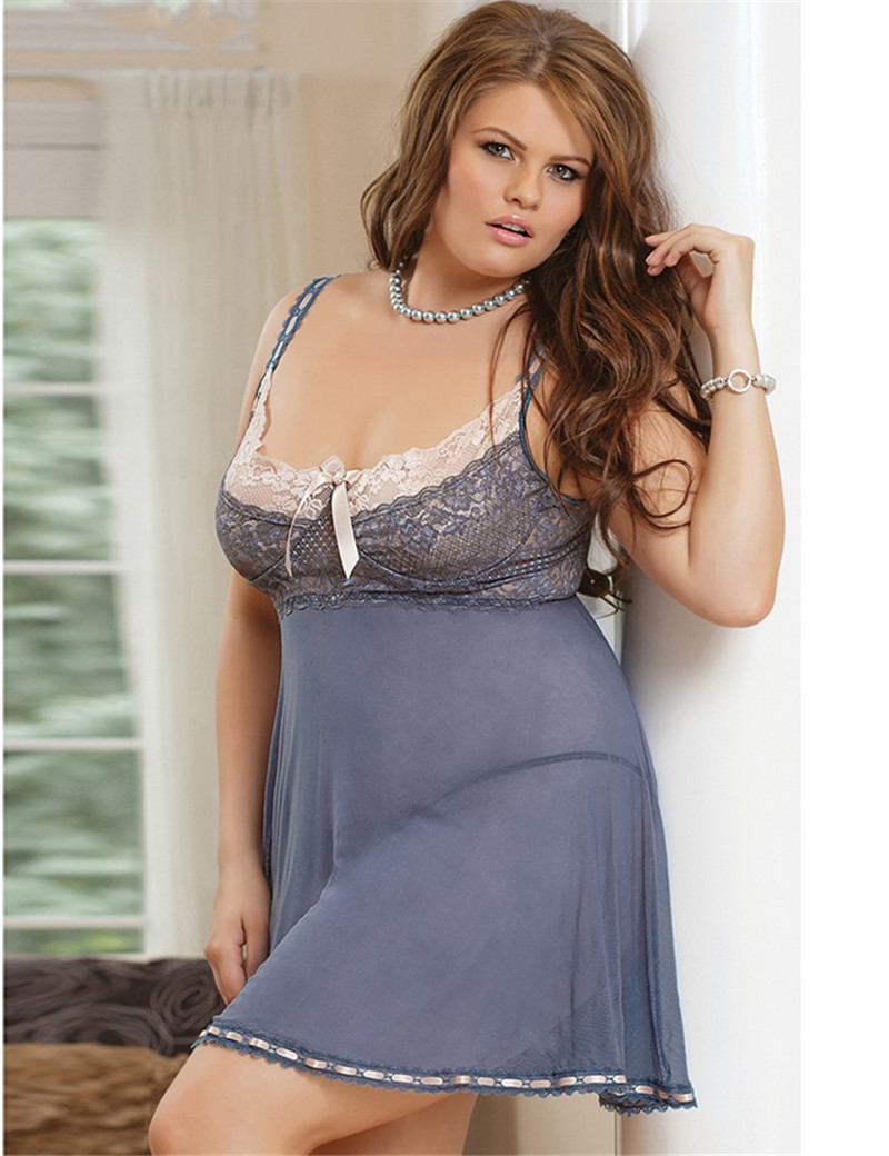 R70149 Romantic in dark womens lenceria sexy pretty chiffon with lace plus size lingerie 2015 new design ladies sexy sleepwearОдежда и ак�е��уары<br><br><br>Aliexpress