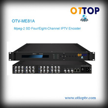 OTV-ME81A DVB Mpeg-2 SD Eight-Channel IPTV Encoder