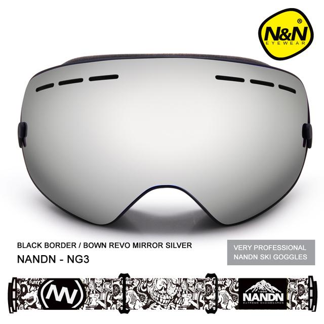 NANDN NG3 Хороший Лыжи Сноуборд Очки Двойной Слой Лыжный Googles Мужчины Женщины Сферические Лыжные Очки Можно Провести Близорукость Снег Очки