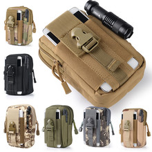 Outdoor Sport Tactical Molle Pouch Mobile Phone Package Mini Waist Bag Military Climbing Army Attached Hunting Packs J91